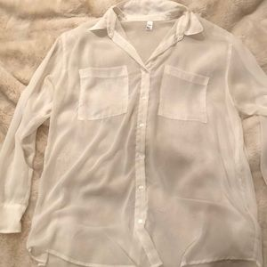 American apparel sheer oversized blouse
